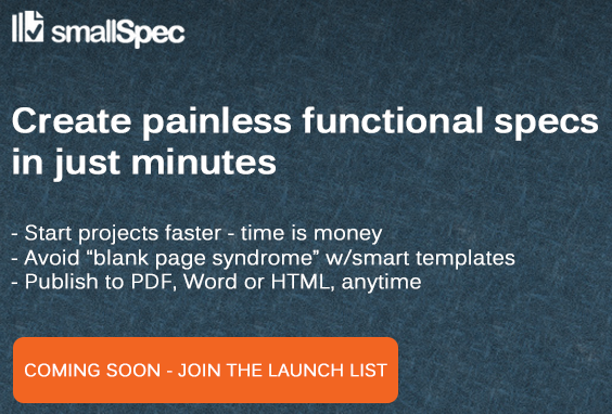 SmallSpec - painless functional specs